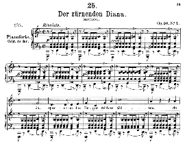 Der zürnender Diana D.707, Medium Voice in F Major, F. Schubert, C.F. Peters | eBooks | Sheet Music