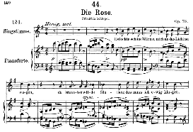 Die Rose D.745, Medium Voice in G Major, F. Schubert, C.F. Peters | eBooks | Sheet Music