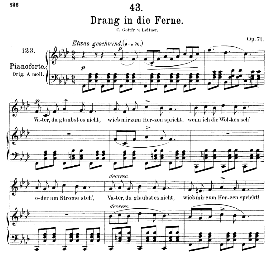 Drang in die Ferne D.770, Medium Voice in F Minor, F. Schubert, C.F. Peters | eBooks | Sheet Music