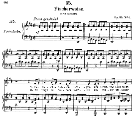 fischerweise d.881, medium voice in d major, f. schubert, c.f. peters