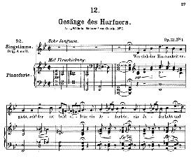 Gesänge des Harfners D.478-1, Medium Voice in G Minor, F. Schubert ( Pet.) | eBooks | Sheet Music