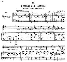 gesänge des harfners d.478-2, medium voice in g minor, f. schubert, c.f. peters