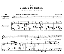 Gesänge des Harfners D.478-3, Medium Voice in G Minor, F. Schubert, C.F. Peters | eBooks | Sheet Music