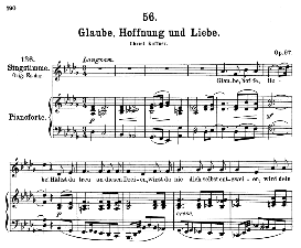 Glaube, Hoffnung und Liebe D.939, Medium Voice in D Flat Major, F. Schubert (Pet.) | eBooks | Sheet Music