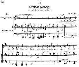 greisengesang d.778, medium voice in b minor, f. schubert ( pet.)