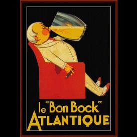 "le ""bon bock"" - vintage poster cross stitch pattern by cross stitch collectibles"