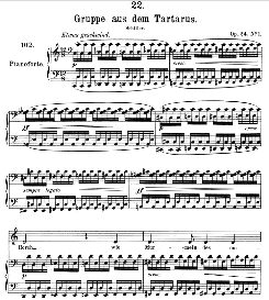 gruppe aus dem tartarus d.583, medium voice in c major. f. schubert (pet.)