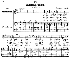 himmelsfunken d.651, medium voice in g major, f. schubert, c.f. peters