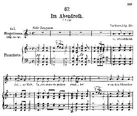 im abendrot d.799, medium voice in f major, f. schubert, c.f. peters
