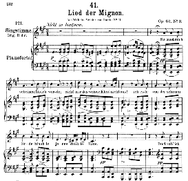 lied der mignon d.877-3 ;so lasst mich scheinen;, medium voice in a major. f. schubert, c.f. peters