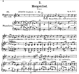 Morgenlied D.685, Medium Voice in G Minor, F. Schubert, C.F. Peters | eBooks | Sheet Music