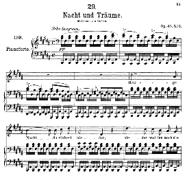 Nacht und Traüme D.827, Medium Voice in B Major, F. Schubert, C.F. Peters | eBooks | Sheet Music
