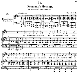 Normanns gesang D.846, Medium Voice in B Minor, F. Schubert, C.F. Peters | eBooks | Sheet Music