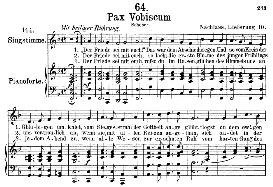 Pax vobiscum D.551, Medium Voice in F Major, F. Schubert, C.F. Peters | eBooks | Sheet Music