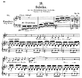 Suleika I, D.720, Medium Voice in G Minor, F. Schubert, C.F. Peters | eBooks | Sheet Music