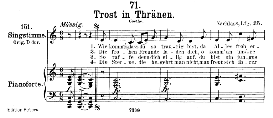 trost in tränen d.120, medium voice in c major, f. schubert, c.f. peters