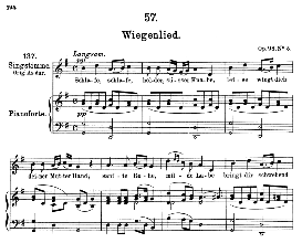 wiegenlied d.498 schlafe, schlafe, medium voice in g major, f. schubert (pet.)