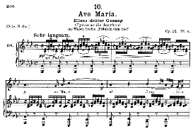 ave maria, ellens gesang iii;, d. 839, medium voice in a flat major,.f. schubert, c.f. peters. a4 (portrait)
