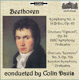 beethoven: sym. no. 4/egmont ov./leonore ov. no. 3 - bbc so/lso/colin davis