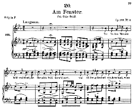 am fenster d.878, medium voice in e flat major,f.schubert (pet.)
