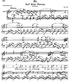 Auf dem Strom D.943 in C Major, Medium Voice. F. Schubert (Pet.) | eBooks | Sheet Music