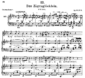 Das Zügenglocklein D.871, Medium Voice in A Flat Major, F. Schubert, C.F. Peters | eBooks | Sheet Music