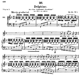 delphine d.857-2, medium voice in f major, f.schubert , c.f. peters