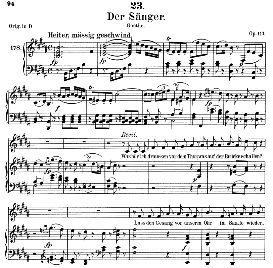 der sänger d.149, medium voice in b major, f. schubert (pet.)