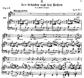 der schäfer und der reiter d.517, medium voice in d major, f. schubert (pet.)