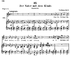 der vater mit dem kinde d.906 in c major, medium voice. f. schubert (pet.)