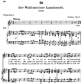 der wallensteiner lanzknecht d.931, medium voice in g minor, f. schubert (pet.)