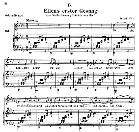 ellen's gesang i, d.837, medium voice in d flat major, medium voice. f.schubert (pet.)
