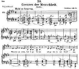 grenzen der menscheit d.716, medium voice in e major, f. schubert (pet.)