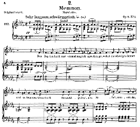 memnon d.541, medium voice in d flat major, f. schubert (pet.))
