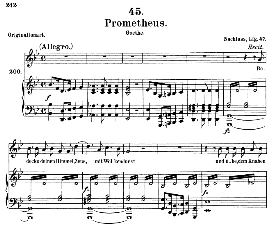 prometheus d.674, medium voice in b flat major, f. schubert (pet.)
