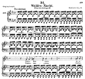 waldes nacht d.708, medium voice in e flat major, schubert (pet.)