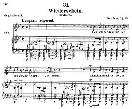 wiederschein d.639, medium voice in b major, f. schubert (pet.)