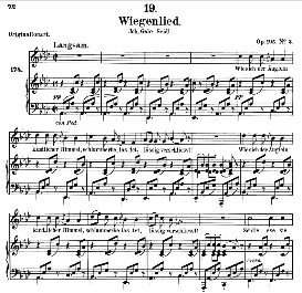 wiegenlied d.867, medium voice in-a flat major, f. schubert. (pet.)