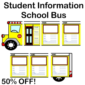 50% off back to school bus templates