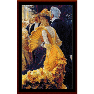 The Ball  - Tissot cross stitch pattern by Cross Stitch Collectibles | Crafting | Cross-Stitch | Other