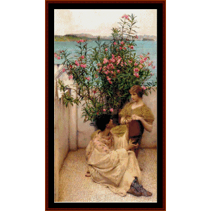 Courtship - Alma Tadema cross stitch pattern by Cross Stitch Collectibles | Crafting | Cross-Stitch | Wall Hangings