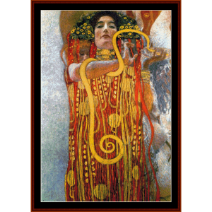 hygeia - klimt cross stitch pattern by cross stitch collectibles