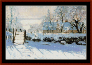 magpie - monet cross stitch pattern by cross stitch collectibles