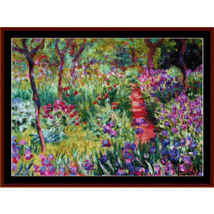 monets garden - monet cross stitch pattern by cross stitch collectibles
