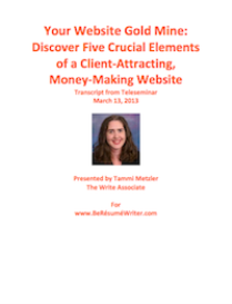 your website gold mine (teleseminar recording and transcript)