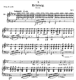 erlkönig d.328, medium voice in f minor, f; schubert (pet.)