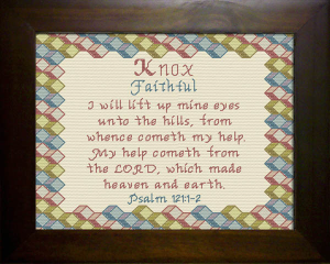 Name Blessings - Knox 2 | Crafting | Cross-Stitch | Religious
