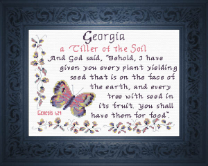 Name Blessings - Georgia | Crafting | Cross-Stitch | Religious