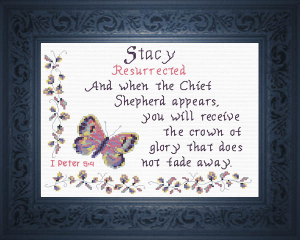 Name Blessings - Stacy | Crafting | Cross-Stitch | Religious
