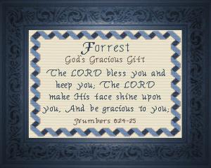 name blessings - forrest